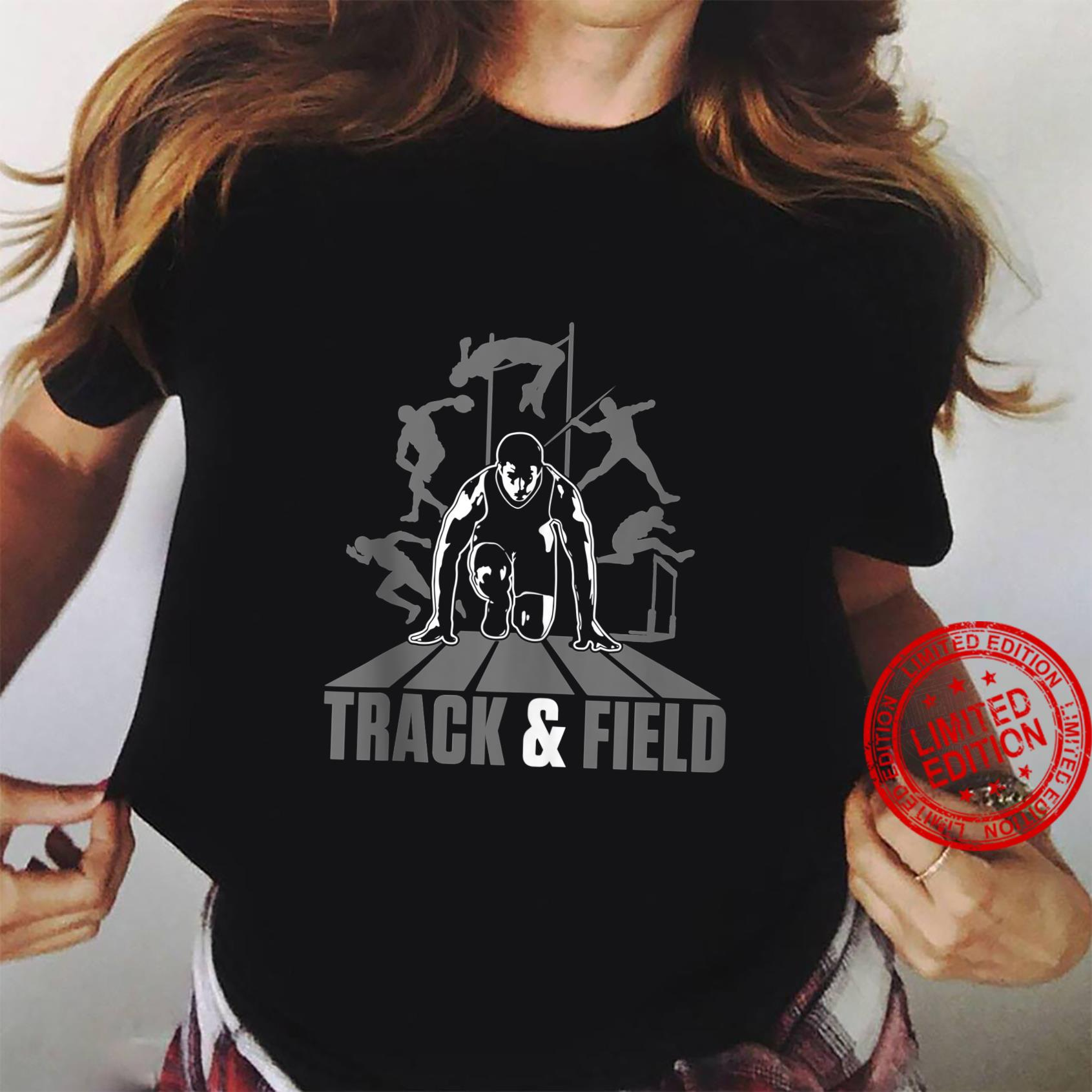 Cute Track And Field Athletics And Girls Shirt ladies tee