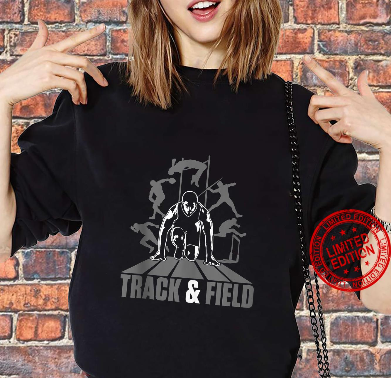 Cute Track And Field Athletics And Girls Shirt sweater