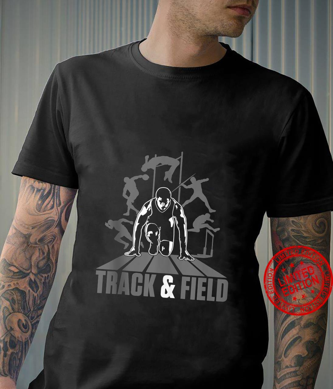 Cute Track And Field Athletics And Girls Shirt